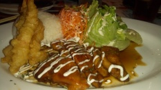 Teriyaki Chicken and Shrimp Tempura