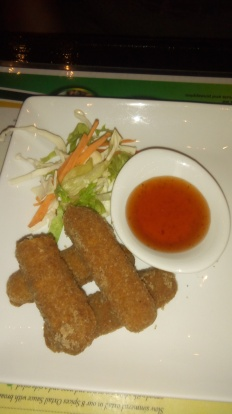 Pimento Crusted Cheese Sticks with Sweet Scotch Bonnet Sauce